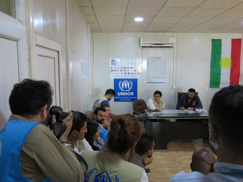 Coordination meetings are held every morning in Bardarash Camp attended by all support actors.