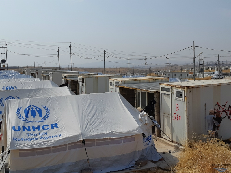 In Bardarash Camp, all tent plots have WASH facilities (toilet, kitchen and shower). Rehabilitation of these facilities are ongoing.