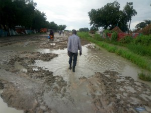 Muddy Road After a Heavy Rainfall