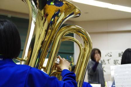 吹奏楽部の練習の様子