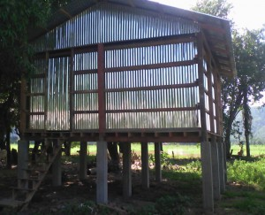 Sheed shelter in Yae Paw Thaung Village, Kayin State