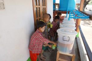 Water filter at school, Pa Dat Kone Village, Ayeywarwady Region