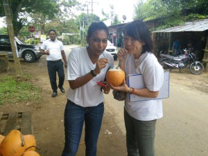 Trying King Coconut Juice