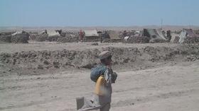 PWJが支援する前のキャンプ(2001年)