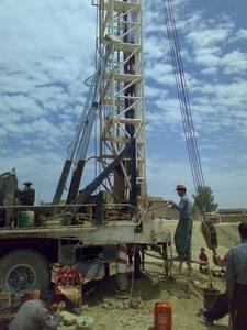 深さ200mの井戸の掘削