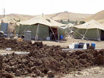 テントが並ぶゲルデセン国内避難民キャンプ