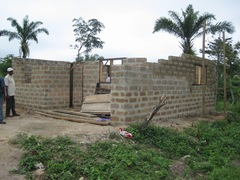 建設中の住居