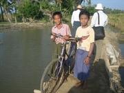 自転車でも村を行き来できるようになった