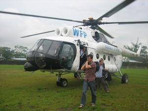 国連が運航するヘリコプター