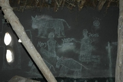 """ワークショップ会場の教会によくある""""壁画"""""""