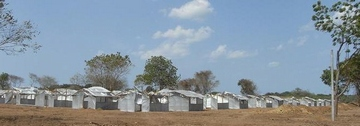 新たに建設が進む国内避難民キャンプ