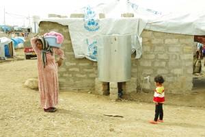 難民キャンプ内の様子