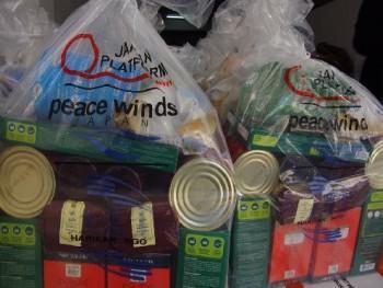 ピースウィンズ・ジャパンからの支援物資