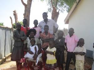 ピースウィンズの南スーダン現地スタッフ家族