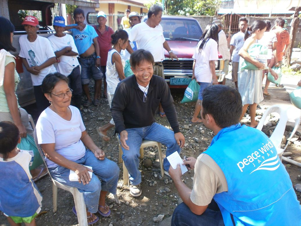 フィリピン水害支援 ピースウィンズ・ジャパン