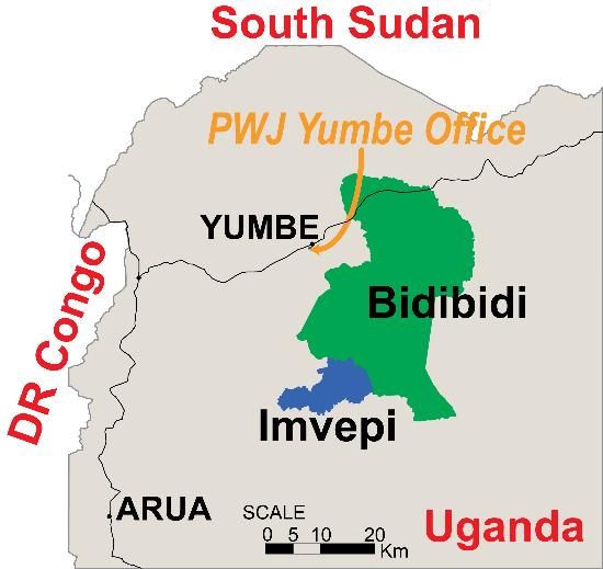 ウガンダ北部西ナイル地域