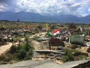 被災地にあるPalu Bangkitの看板