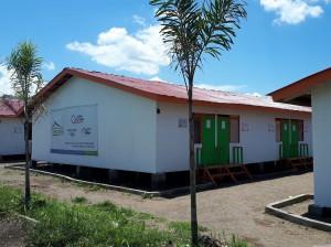 ガンガ地区に建設した仮設住宅